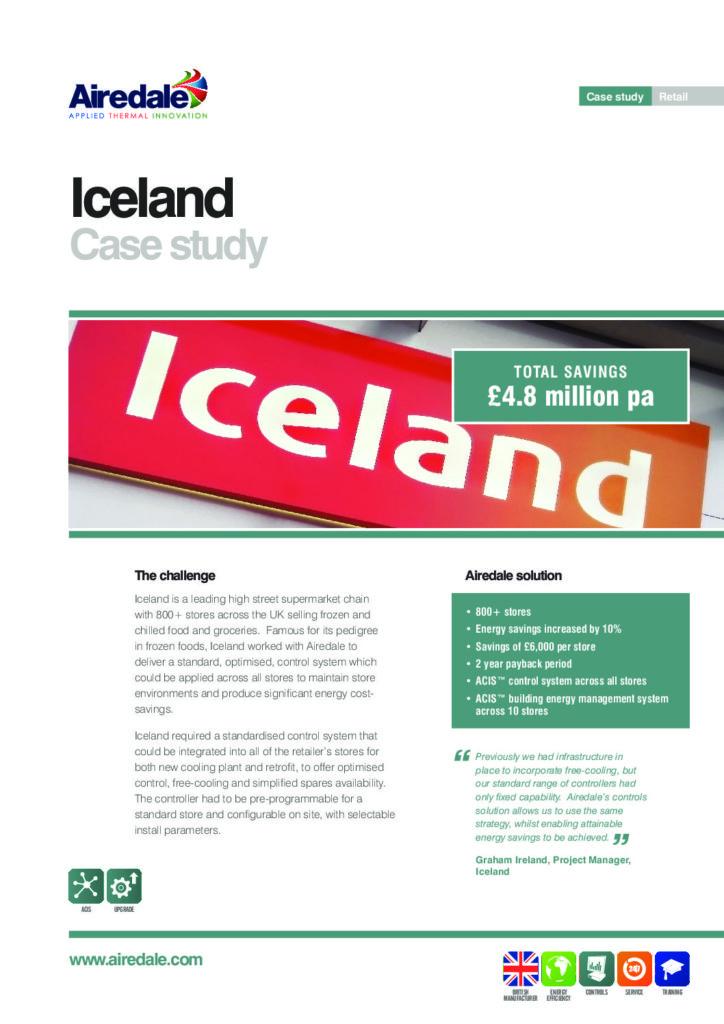 Iceland Frozen Foods case study