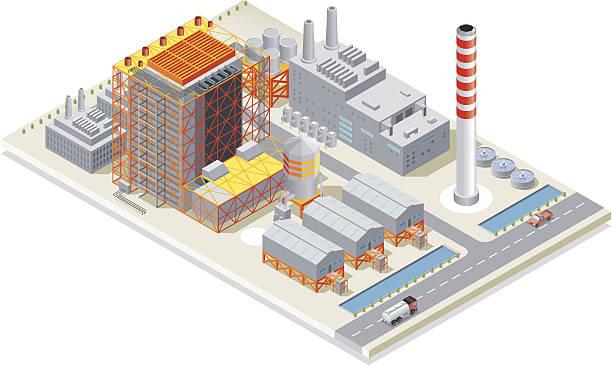 Isometric, Power Station, made in adobe Illustrator (vector)